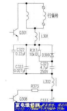 电路图  求助,创维6d76机芯有声音无光故障康佳21寸彩电出现三无故障