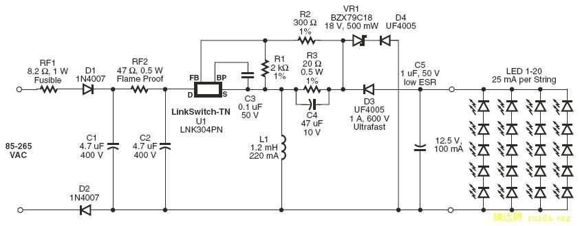 lnk304实用电路图